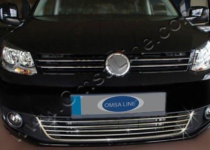 Окантовка и накладки на передний бампер, нерж., 5 частей «COMFORT» для VW Caddy