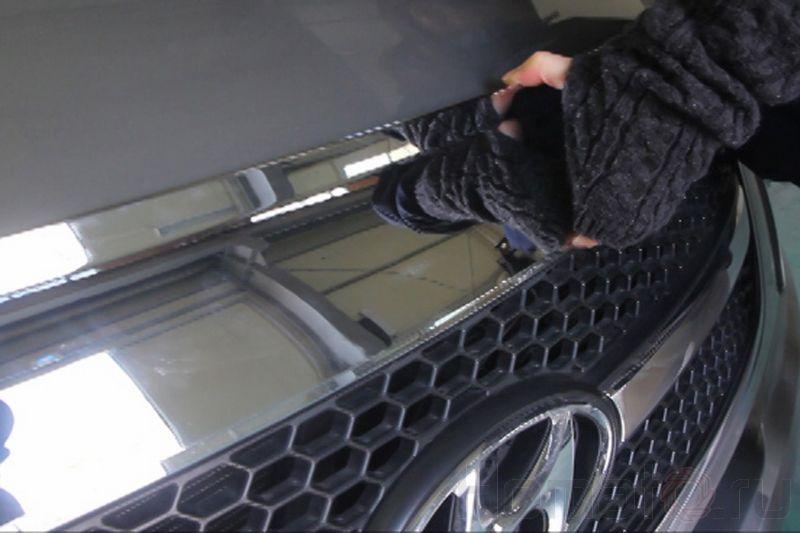 Дефлектор капота «хром» Autoclover «Корея» для Hyundai Grand Starex, H1