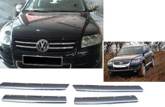 "Накладки на решетку радиатора, нерж., 4 части для VW Touareg ""03-06"""