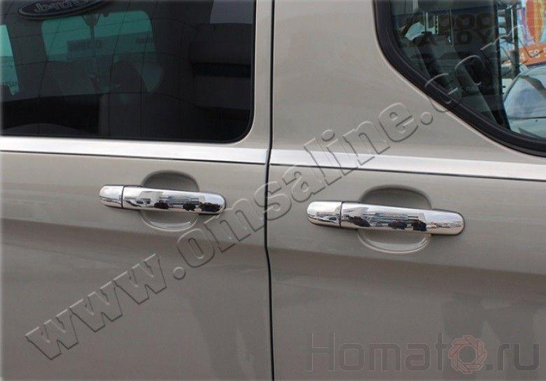 """Накладки на дверные ручки, нерж., 11 шт. «5 дверн.» для FORD Transit """"14-"""
