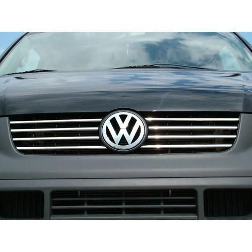 """Накладки на решетку радиатора, нерж. для VW T5 Transporter """"03-"""