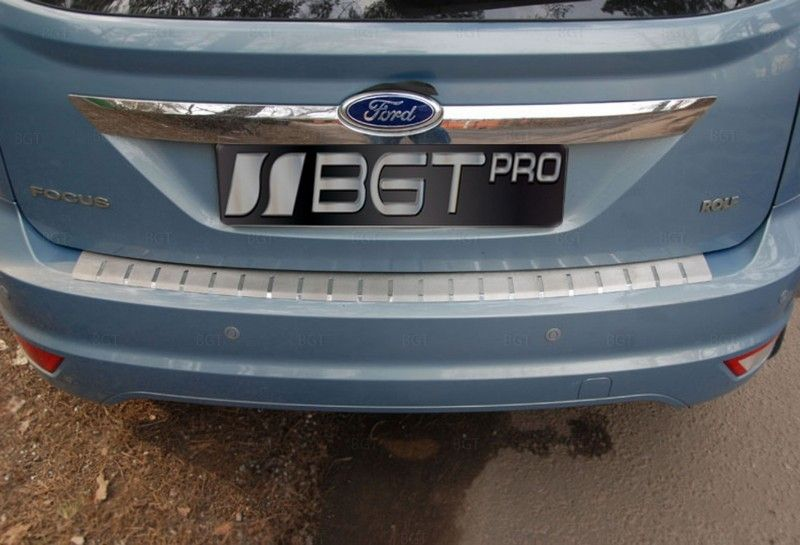Накладка на бампер для Ford Focus II FL 5D 2008-2010 из нержавеющей стали