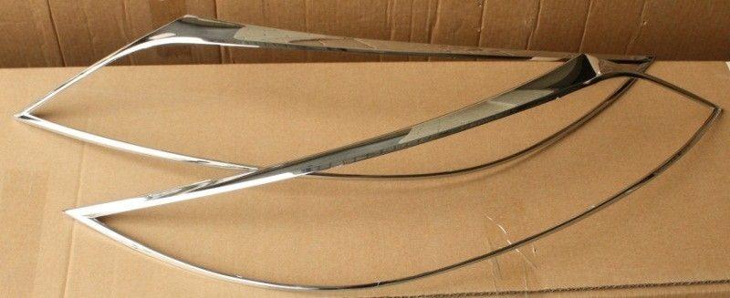 Накладки хромированные на фары головного света для KIA Sorento I,II,III