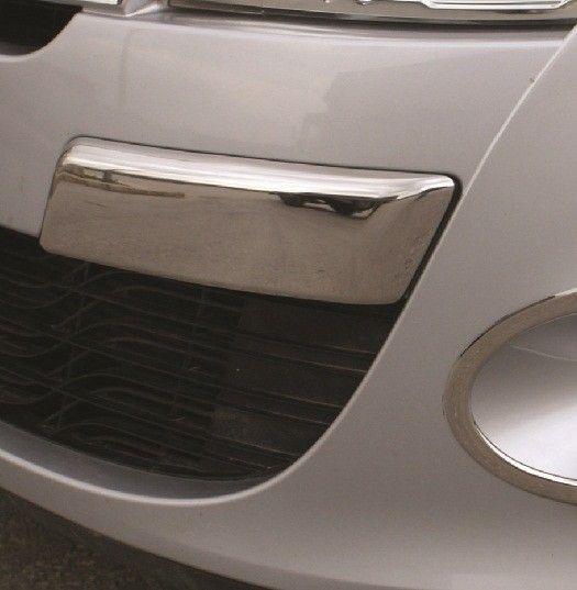 Накладки на передний бампер, нерж., 2 части «HB&SD» для RENAULT Megan III