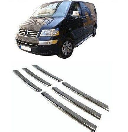 "Накладки на решетку радиатора, нерж., 6 частей для VW T5 ""03-09"""