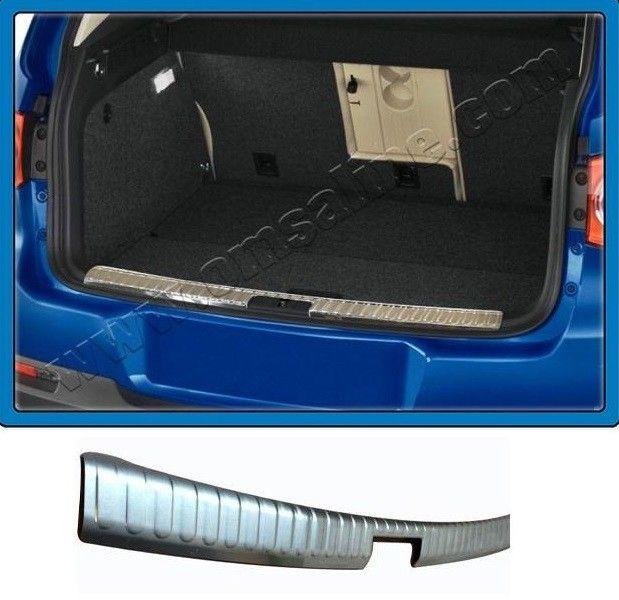 """Накладка на порог заднего бампера, нерж., матированная для VW Tiguan """"08-10"""""""