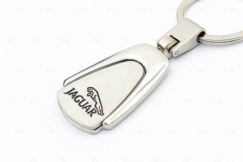 """Брелок металлический с логотипом """"Jaguar"""" «Silver»"""