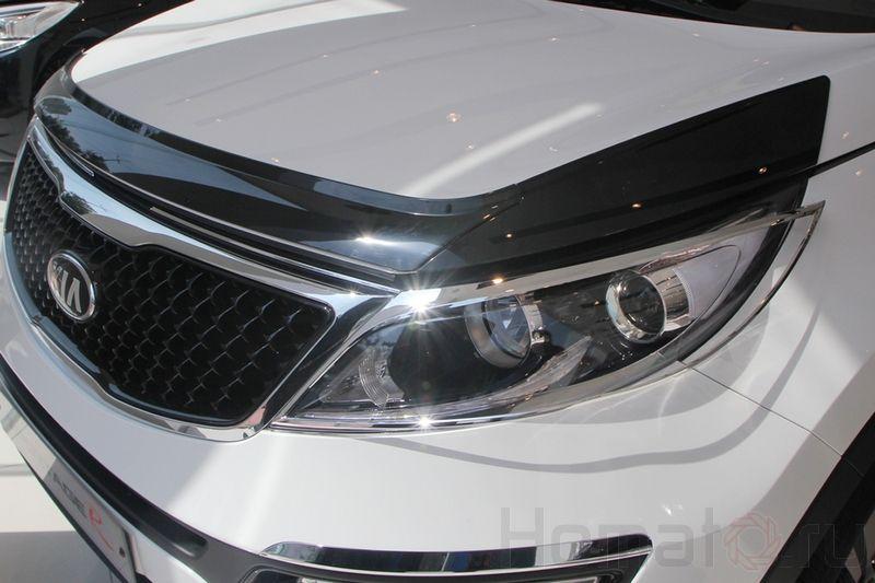 Дефлектор капота черный Autoclover «Корея» для Kia Sportage 3 2010+