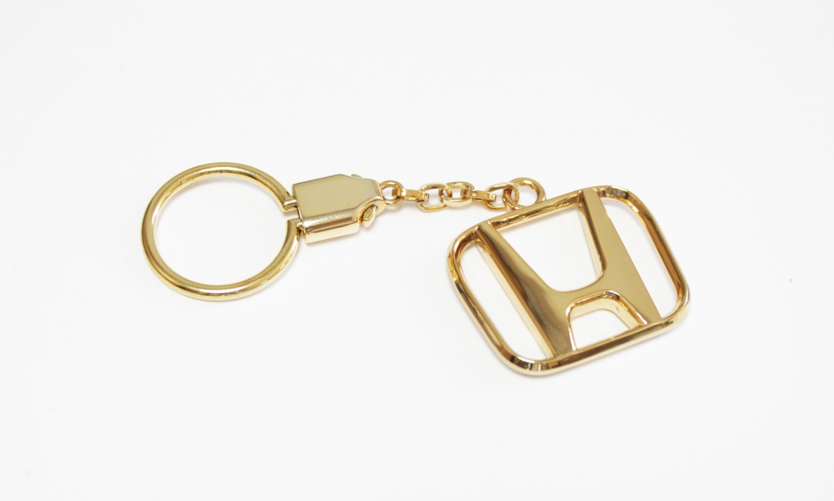 "Брелок для Honda ""CLASSIC"", Цвет: Золото, Металлический"