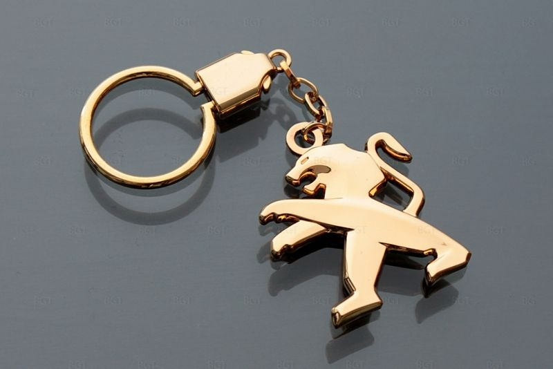 """Брелок для Peugeot """"CLASSIC"""", Цвет: Золото, Металлический"""