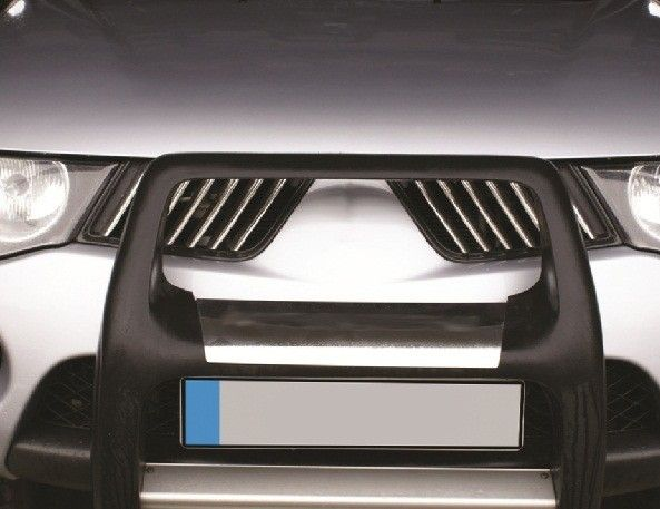 Накладки на решетку радиатора, нерж., 14 частей для MITSUBISHI L200