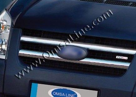 Накладки на решетку радиатора, нерж., 2 части для FORD Transit