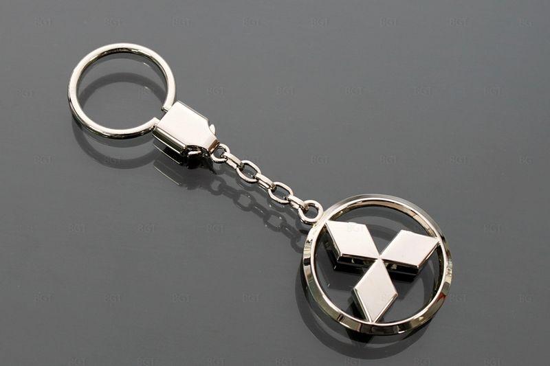 "Брелок для Mitsubishi ""CLASSIC"", Цвет: Хром, Металлический"