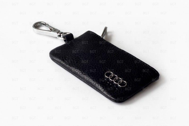 Брелок «кожаный чехол» для ключей с логотипом Audi «вар.3»