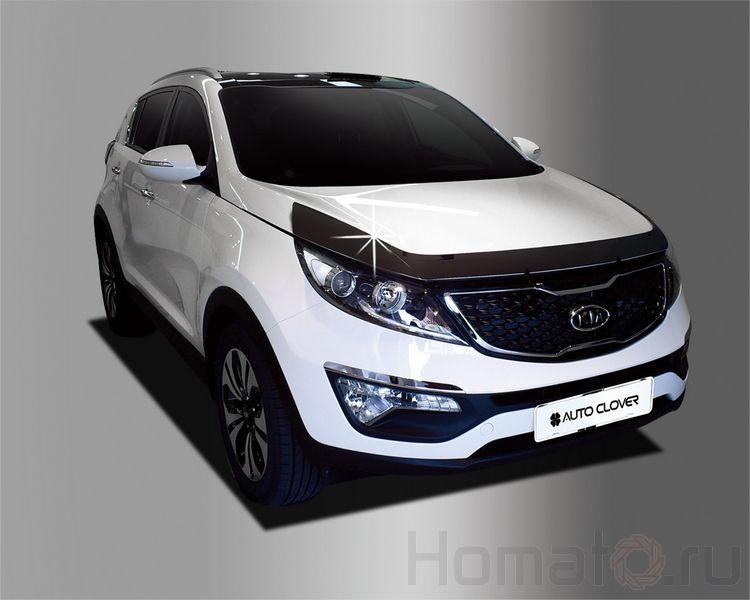 Дефлектор капота черный Autoclover «Корея» для Kia Sportage 3 2010+ вар.2