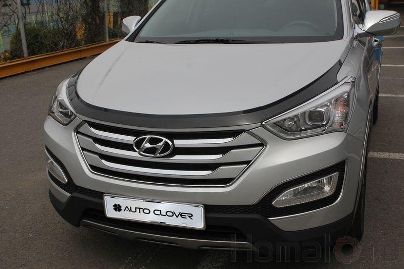 Дефлектор капота акрил Autoclover «Корея» для Hyundai Santa Fe DM 2012+