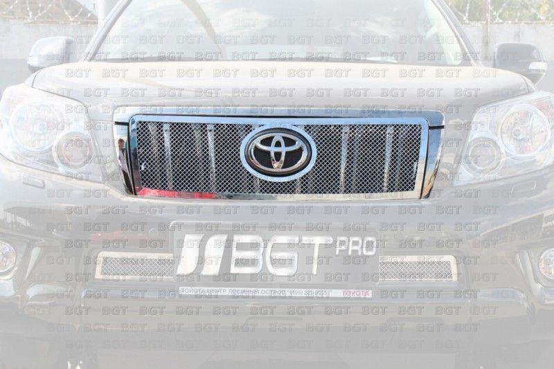 Тюнинговая решетка радиатора для Toyota Land Cruiser Prado 150 Тип Сетка -ВЕРХ