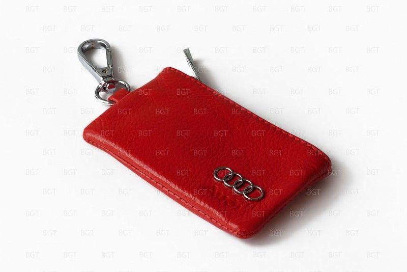 Брелок «кожаный чехол» для ключей с логотипом Audi «вар.2»