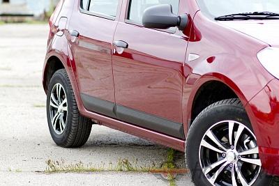 Молдинги на двери широкие Renault Sandero 2009-2013 и Sandero Stepway 2009-2013 | шагрень: фото, цена, доставка