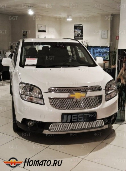 Решетка в бампер для Chevrolet Orlando 2010+ «Punched Grille Bottom» НИЖНЯЯ