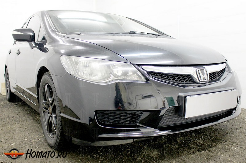 Защита радиатора для Honda Civic 8 4D (2009-2012) рестайл | Стандарт