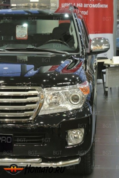 "Накладки на зеркала для Toyota Land Cruiser 200/202 «2012+» ""Chrome"""