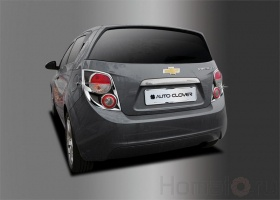 Хром молдинги задних фонарей для Chevrolet / Aveo«5» / 2011~Current